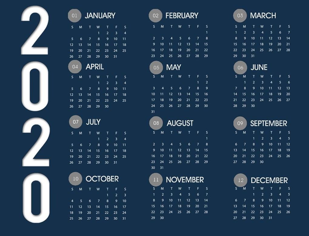 Eshte publikuar Kalendari Dimeror i garave 2020
